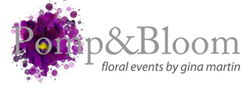 Pomp and Bloom | Wedding and special event florist in Columbus Indiana logo